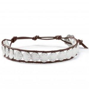 3/$50 - Stella & Dot scallop bracelet leather S-L